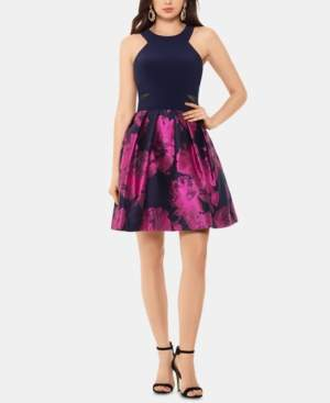Xscape Evenings X by Halter-Neck Fit & Flare Dress