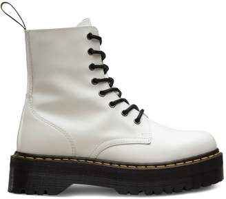 0defc823dbc Dr. Martens White Leather Boots For Women - ShopStyle Canada