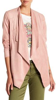 KUT from the Kloth Mariana Faux Suede Drape Jacket