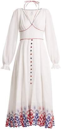 GÜL HÜRGEL Embroidered linen dress