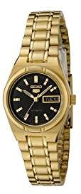 Seiko Women's SYM602 5 Automatic Dial Gold-Tone Stainless Steel Watch