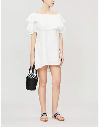 Felicia Magui ruffled linen mini dress