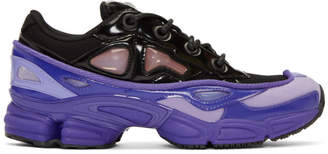 Raf Simons Purple and Black adidas Originals Edition Ozweego III Sneakers