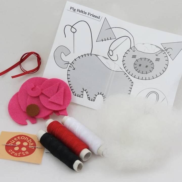 Crafts4Kids Childrens Sew A Felt Animal Mini Kit