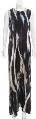 Calvin Klein Collection Silk Printed Maxi Dress