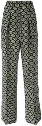 MSGM eyes print straight trousers