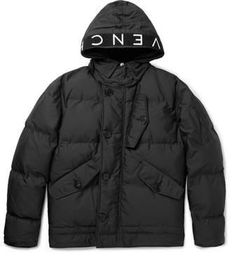Givenchy Logo-Trimmed Quilted Shell Hooded Jacket - Black