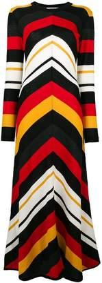 MSGM chevron print maxi dress