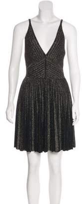 Elie Saab Metallic A-Line Mini Dress w/ Tags
