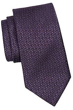 Ermenegildo Zegna Men's Silk Dot Pattern Tie