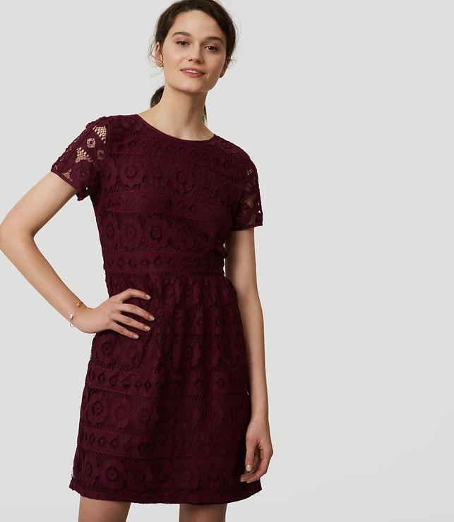 Tall Short Sleeve Lace Dress