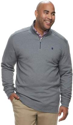 Izod Big & Tall Advantage SportFlex Classic-Fit Performance Stretch Fleece Quarter-Zip Pullover