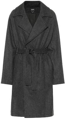 A.P.C. Wool-blend wrap coat