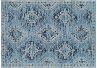 One Kings Lane Brock Handwoven Rug - Blue/Ivory
