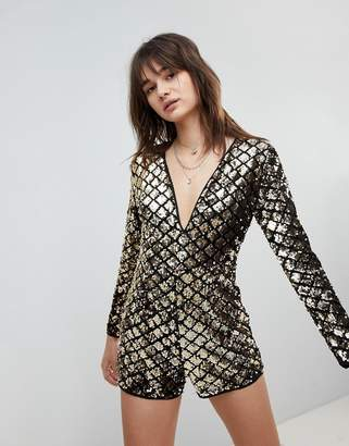 0c4417c64bab Love   Other Things Metallic Playsuit