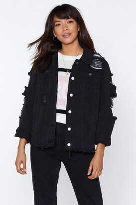 Nasty Gal Asking For Trouble Distressed Denim Jacket
