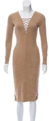 Alexander Wang Lace-Up Knee-Length Dress w/ Tags