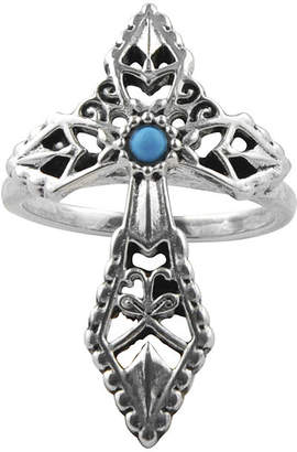 Artsmith BY BARSE Art Smith by BARSE Genuine Turquoise Silver Over Brass Cross Ring