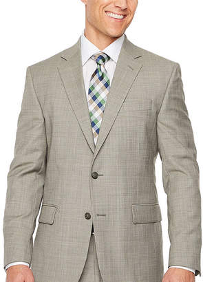 STAFFORD Stafford Brown Check Slim Fit Stretch Suit Jacket