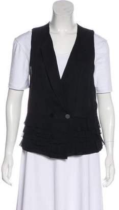 3.1 Phillip Lim Silk Ruffle-Accented Vest