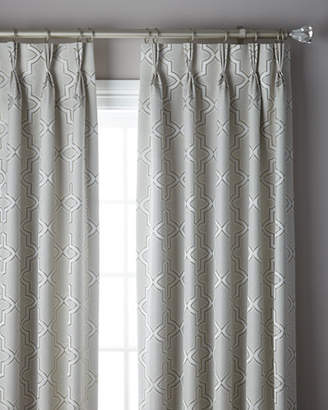 Thomas Laboratories Misti Modern Luxuries 3-Fold Pinch Pleat Trellis Curtain, 96""