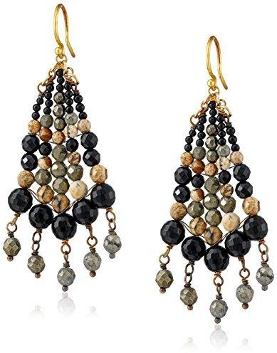 Chan Luu Gold-Plated Semi-Precious Stone Earrings
