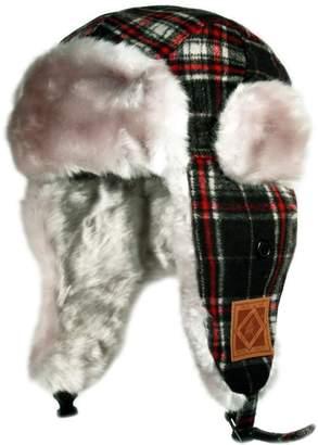 Hunter City Kw120 Premium Wool Plaid Kids Trapper Bomber Hat