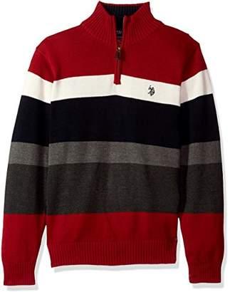 U.S. Polo Assn. Men's Striped 1/4 Zip Sweater