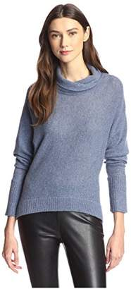 James & Erin Women's Cowl T-Neck Cashmere Sweater
