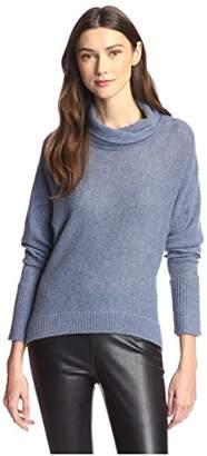 James & Erin Women's Cowl T-Neck Cashmere Sweater