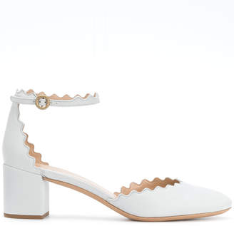 Chloé scalloped edge pumps