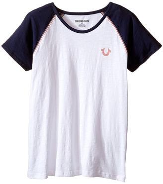 True Religion Kids Branded Logo Tee Shirt (Little Kids/Big Kids) $39 thestylecure.com