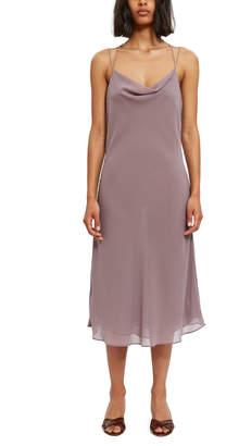 Callipygian Tie Back Cowl Dress