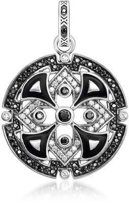 Thomas Sabo Blackened Sterling Silver w/Black & White Cubic Zirconia Pendant