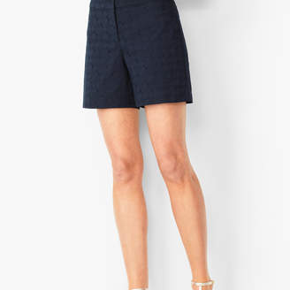 Talbots Embroidered Cotton Shorts