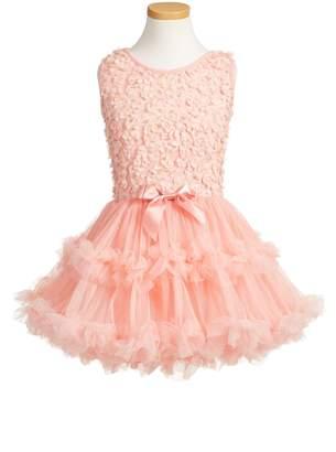 Popatu Floral Applique Tutu Dress