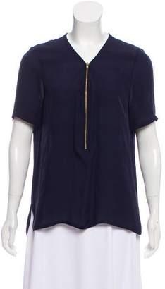 The Kooples Silk Short Sleeve Blouse