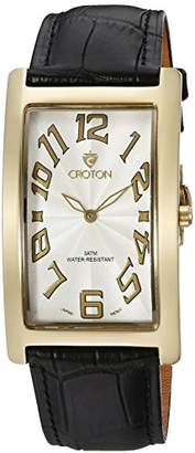Croton Men's CN307533YLWH ARISTOCRAT Analog Display Quartz Black Watch