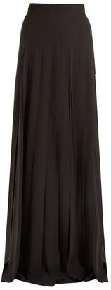 Prada High-rise pleated crepe maxi skirt