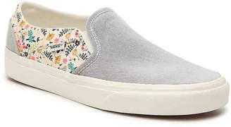 Vans Asher Stripe Floral Slip-On Sneaker - Women's
