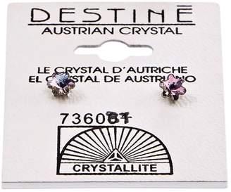 Crystallite Destine Violet Snowflake Earrings