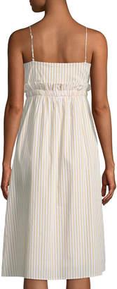 Line And Dot Ryline Striped Sleeveless Midi Dress
