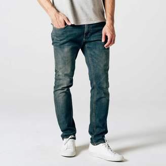 DSTLD Mens Skinny-Slim Jeans in Dark Worn