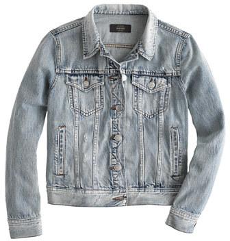 J.CrewPetite denim jacket in Calyer wash