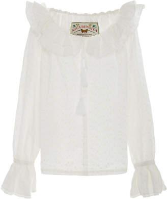 Agua Bendita Agua By Mutis Broderie Cotton Shirt