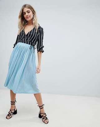 Missguided Pleated Midi Skirt