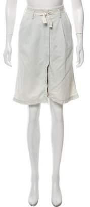 MM6 MAISON MARGIELA MM6 by Maison Martin Margiela Denim Knee-Length Skirt