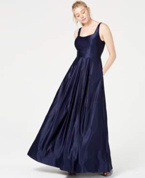 City Studios Juniors' Satin Beaded-Back Gown