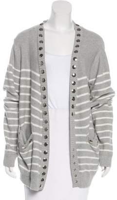 Thomas Wylde Striped Knit Cardigan