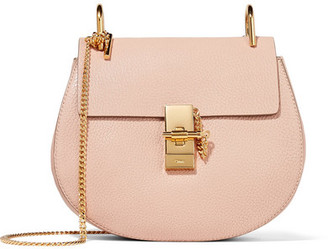 Chloé - Drew Small Textured-leather Shoulder Bag - Blush $1,850 thestylecure.com